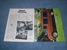 "1987 Ford E-150 Custom Van Article ""Sport Vanning"" Econoline"