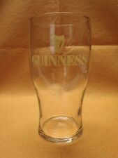 4 Guinness Stout Pint Glasses Gold Colored Letters and Harp Logo