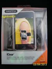 Griffin iClear Case Shell with Belt Clip and Armband for iPod Touch 2nd Gen USED