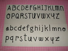 SIZZIX ALPHABET LETTERS - UPPERCASE & LOWERCASE - CHOOSE ANY 52 LETTERS for £1