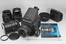 [Exc+++] Mamiya RB67 ProS 127mm 140mm 180mm Lens 2 Holders from Japan #5326