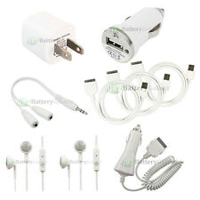 9 Pc USB Wall+Car Charger+Data Cable set for iPod Touch iPhone 2G 3G 3GS 4 4S 4G