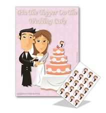 Hen Night Party Games - PIN THE TOPPER ON THE WEDDING CAKE - 20 players FREE P&P