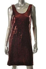 Nicole Miller Burgundy Formal Evening Cocktail Dress Sequined Size 8 NWT