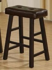 Country Series Bar Stool, 29-Inch in Dark Cherry Finish with Faux Leather Set 2