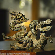 SCULPTURES - AUSPICIOUS DRAGON SCULPTURE - DRAGON FIGURINE