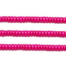 Wood Rondelle Beads Dark Pink 8x4mm 16 Inch Strand
