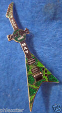 ONLINE MAY GREEN COW SPOT ANIMAL PRINT FLYING V GUITAR SERIES Hard Rock Cafe PIN