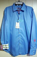 Robert Graham Embroidered Button-Front Flip-Cuff Shirt: Large (New With Tags)
