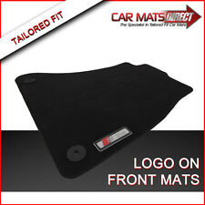 AUDI A4 S LINE 08-ON Tailored Car Floor Mats Black Velour Carpet with Logos