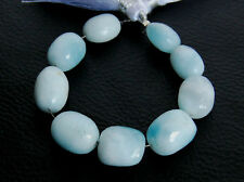 Larimar Dolphin Stone Faceted Oval Nugget Semi Precious Gemstone Beads 005