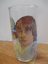 "Original 1977 STAR WARS - LUKE SKYWALKER 5.5"" Glass BURGER KING and COCA-COLA"
