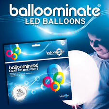 Blanco - 15 Pack. Led Blanco Luz balloominate Globos-todas las ocasiones