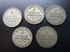 Germany 1/2 Groschen 1862A 1863A 1867A 1870A 1872B Coins