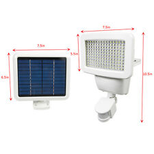 150 SMD LEDs Solar Powered White Motion Sensor Security Light Flood 80 100 120