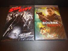 SIN CITY & THE BOURNE IDENTITY-2 DVDs-CLIVE OWEN, BRUCE WILLIS,MATT DAMON-Action