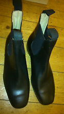 LOVESON VINTAGE JODHPUR CHELSEA RIDING BOOT BLACK LEATHER UK10.5 BRAND NEW