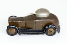 Britains Toy  Pre War Crossley Armored Car 1934 Issue Black Tires