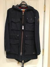 NWT MOOSE KNUCKLES DENIM DAY PARKA HOODED JACKET COAT Women's Sz S Small $395
