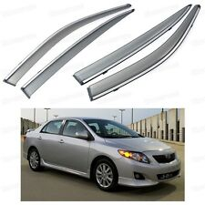 Front & Rear Side Window Deflector Visor Vent Shade for Toyota Corolla 2007-2013