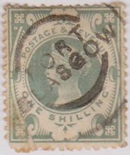 (R7-3)1887 Great Britain 1/- green QVIC ow211