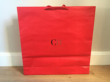 Used - CAROLINA HERRERA -bolsa de papel ROJA - Red Paper bag - 47 x 47,5 x 10 cm