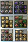 9X60MM Premier XMAS Luxury Boxed Decorated Baubles Christmas Decoration FreePost