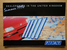 FIAT CARS official 1994 UK dealership directory brochure - Summer 94 edition
