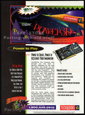TECHWORKS / 3Dfx INTERACTIVE__Original 1997 Print AD game promo__VOODOO Graphics