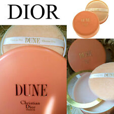 100% AUTHENTIC HUGE RARE DIOR DUNE VINTAGE PERFUMED TALCUM DUSTING POWDER&PUFF