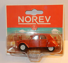 NOREV 3 INCHES 1/54 CITROEN 2CV ROUGE CLASSIC CAPOTE GRISE