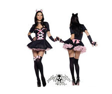 Lolita  Cat Girl Catwoman Sexy Costumes Cosplay Clubwear Holloween Party Wear