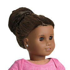 "American Girl MY AG CHIC BUN DARK BROWN for 18"" Dolls Hair Extension Retired NEW"