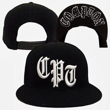 "Black Compton "" CPT "" NWA Dre Cube Flat Bill Snapback Snap Back Baseball Cap Hat"