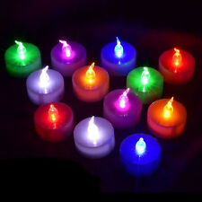 1X Multi-Colors Flameless LED Tealight Tea Candle Wedding Bar Light Battery Lamp