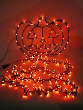 Jack O Lantern Window Light Frame Halloween Decoration + 9' Orange Light String