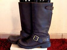 ASH - BOTTES MOTARD - CUIR MARRON - P.39 - AUTHENTIQUE