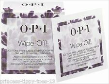 OPI Acetone Free Nail Polish Remover Wipes - Wipe Off (3 Wipes)