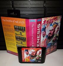 The Battle of Red Cliffs - Beat'em up Video Game for Sega Genesis! Cart & Box!