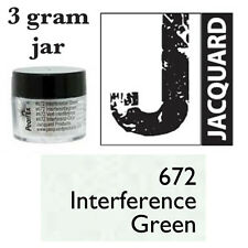 Pearl Ex Mica Powdered Pigments - 3g bottles - INTERFERENCE GREEN 672