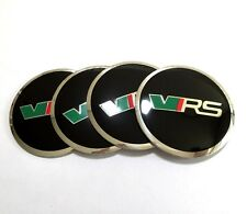 4 x VRS Skoda Sticker only Wheel Center Caps 57mm Badge ALLOY Rims Logo Emblem