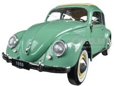 1950 VOLKSWAGEN CLASSIC OLD BEETLE SPLIT WINDOW GREEN 1/18 MODEL BY WELLY 18040
