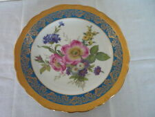 BEAUTIFUL LIMOGES CABINET PLATE FLORAL SPRAYS GOLD DECORATION