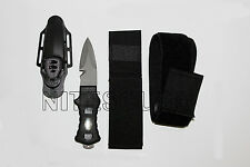 100% Titanium BCD Scuba Dive and Spearfishing Kill Knife with Locking Sheath
