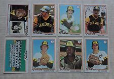 1978 Topps San Diego Padres Baseball Team Set (24 Cards) ~ Dave Winfield FINGERS