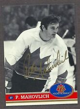 1972 Team Canada Peter Mahovlich Autographed Card