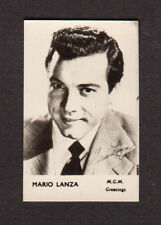Mario Lanza Vintage 1960 Movie Film Star British FPF Card B