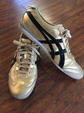 Onitsuka Tiger Asics Mexico 66 Size Men's 10 Women's 11.5 Sport Shoes Gold Black