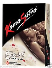 Kamasutra KS  VANILLA  Flavoured Dotted Condom 8 Pcs,  FEEL  DOTS  TESTY  TESTY