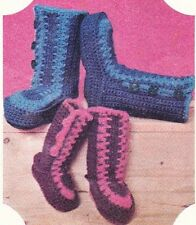 QUICK CROCHET BOOTS / 3 sizes -  crochet slipper pattern